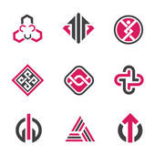Graphic symbols and technology concept , social network — Vettoriale Stock