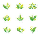 Green nature and tree symbol — Vettoriale Stock