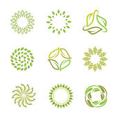 Nature in autumn and spring circle — Vector de stock