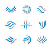 Abstract logo template set of business economy finance and travel agency — 图库矢量图片