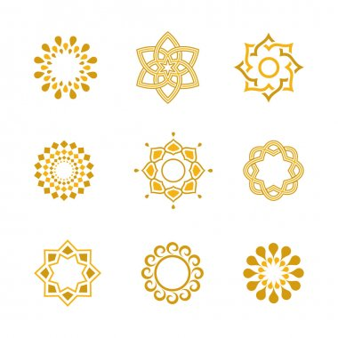 Vector set Luxury gold Calligraphic design elements and page decoration