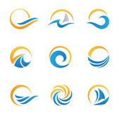 Sun and Sea Royal travel experience logo template — Cтоковый вектор