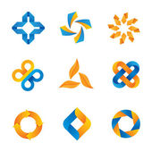 Creative and colorful loop logos to inspire — 图库矢量图片