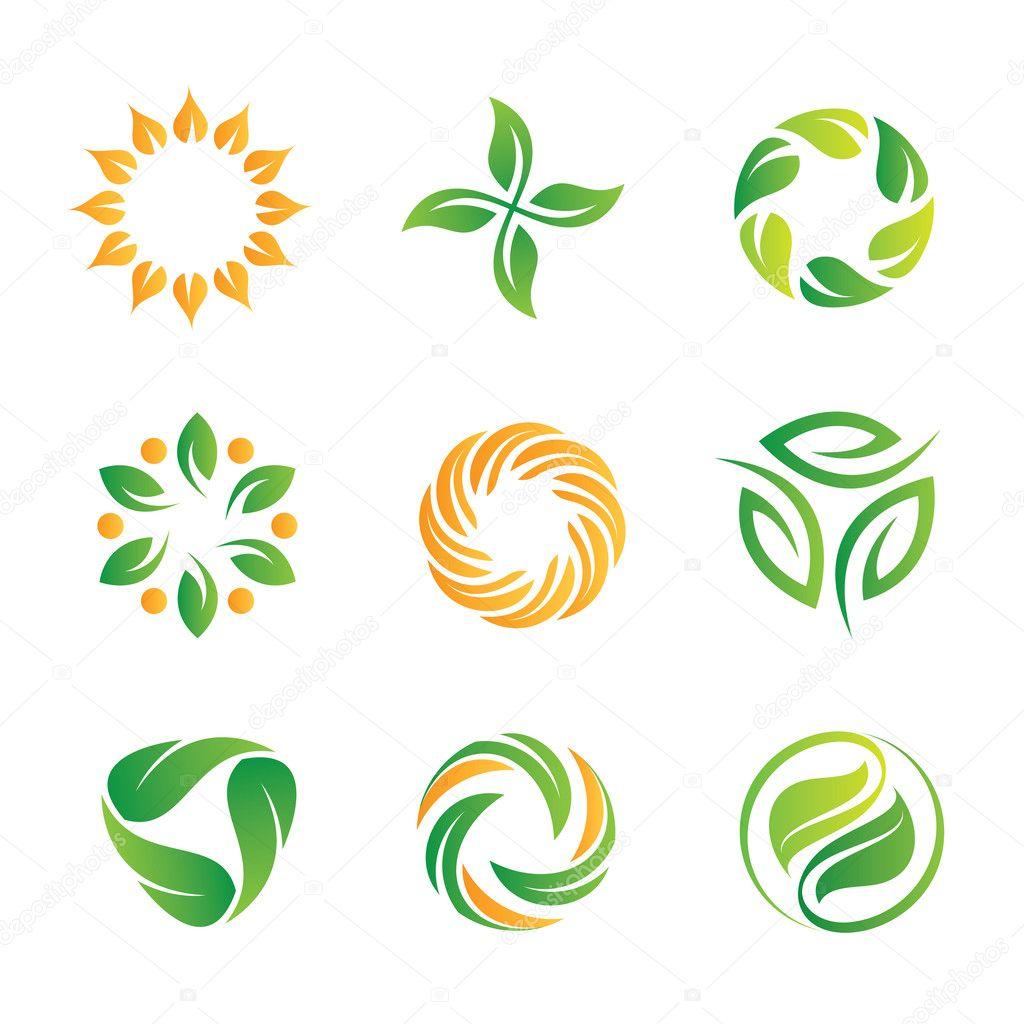 Naturaleza verde lazo logotipo e icono para decoraci n web - Web decoracion ...