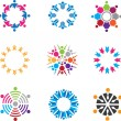 Social symbols of people in community — Stock Vector