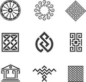 History of human construction decoration creativity logo template — 图库矢量图片