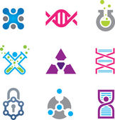 New world of cutting edge technology in science logo template — Stockvector