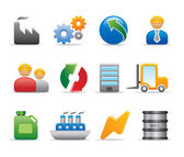 3D Industry progress icon and logo innovation vector set — Stock Vector