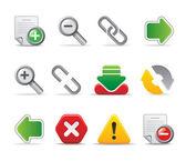 3d ikony strony internetowej i logo dla firmy biuro firmy i pracownika — Wektor stockowy