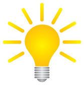 灯泡的成功理念徽标模板 — ストックベクタ
