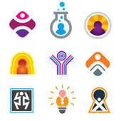 People in object just being awesome in creative genius symbols — Stock Vector