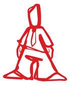 Homme moderne dessiné par descripteur de ligne logo — Vecteur