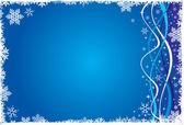 Fondo de la decoración de navidad azul invierno gusano — Vector de stock