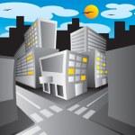 Town — Stock Vector