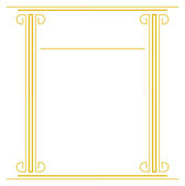 Antiquities frame — Stock Vector