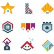 My beautiful home and house icons vector illustration — Stock Vector