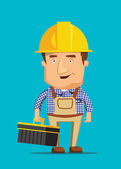 Electrical maintenance technician worker human job illustration — Stock Vector