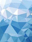 Topo da montanha de neve azul geometria do triângulo fundo textura moderna — Vetor de Stock