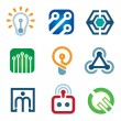 New age of innovative technology modern society icon set — Stock Vector #44808015