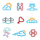People know no limits in creativity creation app icon set — Stock Vector