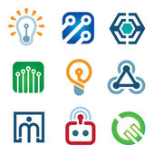 New age of innovative technology modern society icon set — Stock Vector