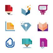 Simbolo di documento ufficio affari dell'icona del logo di creatività imprenditore — Vettoriale Stock