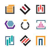 Abstract creativity for professional logo company icon set — Stock Vector