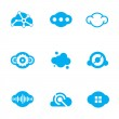 Cloud blue technology of future science application design logo icons — Stock Vector #47806923