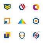 Постер, плакат: Army badge stripes game developer community computer logo icon set