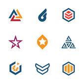 The game of star success business company logo icon set — Stock Vector