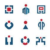 人企業のビジネス技術の販売の成功のロゴ ベクトル アイコンを設定 — ストックベクタ