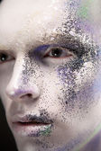 Male with creative make-up — Stock Photo