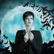 Vampire woman — Stock Photo