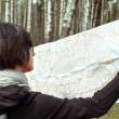Search for a place on the map — Stock Photo