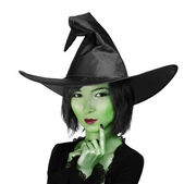 Little cute witch woman — Stock Photo