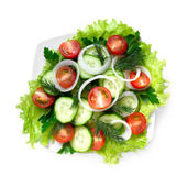 Vegetarian salad, top view — Stock Photo
