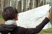 Search for a place on the map — 图库照片