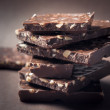 Pieces of chocolate — Stock Photo
