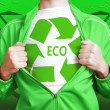 Eco hero — Stock Photo