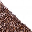 Diagonal form Coffee bean — Stock Photo