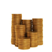 Stacks of golden coins — Stock Photo