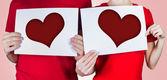 Dois corações — Foto Stock