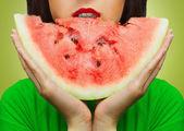 Pedaço de melancia — Foto Stock