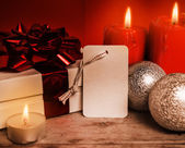 Christmas evening of gifts — Stock Photo