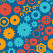 Seamless background pattern cogwheel — Stock Vector #32703381