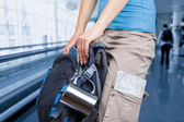 Traveler in the airport — Stock Photo