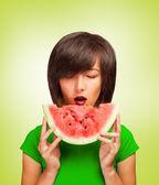 Delicious slice of watermelon — Foto Stock