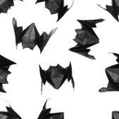 万圣节折纸蝙蝠模式 — 图库照片
