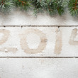Fir tree branches and 2014 — Stock Photo #35070615