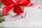 Gift and card, copyspace — Foto Stock